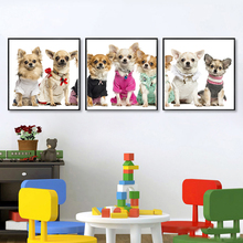 Pet Dog Canvas Art Pictures Cute Puppy Wall Decorative Spray Modern Paintings For Home Living Room Modernism Decor Framed No