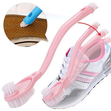 3 in 1 Three heads long-handled shoe washing clean brush clean wash sneakers special shoe brushes