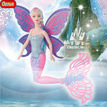 Oenux 2017 Fashion Kids Mermaid Dolls Toy Swimming Moxie Mermaid Doll Princess Ariel Dolls Bonecas Girls Toys For Birthday Gifts