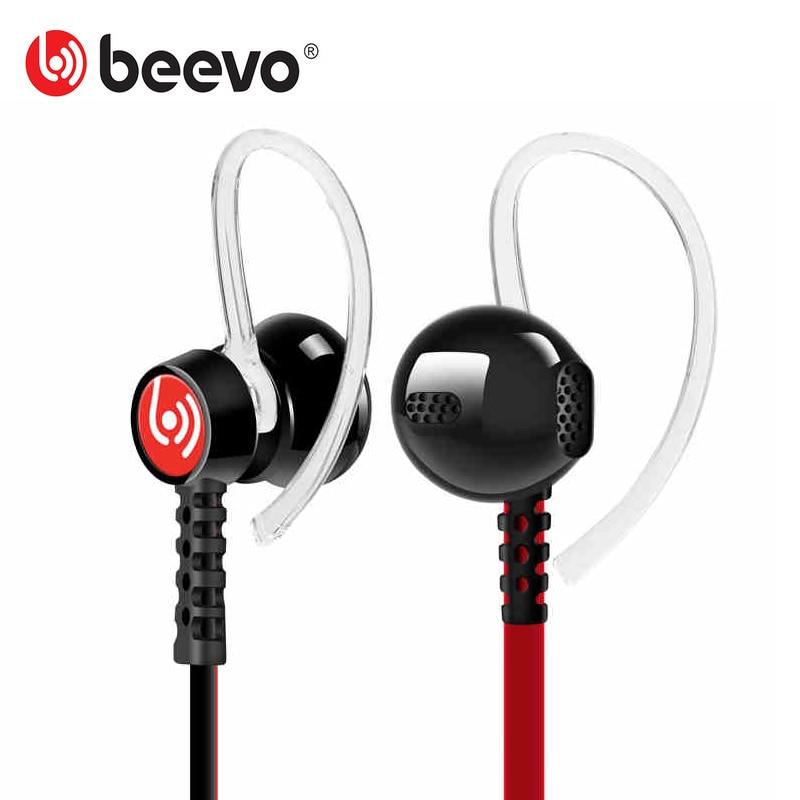 Beevo EM300 Stereo Sport Earphones with Detachable Ear Hook MIC Volume Control Running Headphone Noise Reduction HIFI Earphone<br><br>Aliexpress
