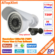 HD 720P CCTV camera 1.0MP Megapixels IR surveillance Outdoor Waterproof security cam network CCTV IP camera P2P ONVIF Phone view