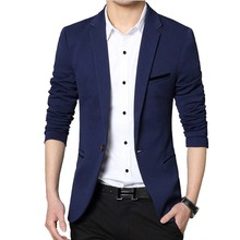 Men Casual Suit Business Style Fashion Design Men's Long Sleeve Slim fit Suits Masculine Blazer one Button Suits(China)