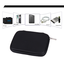 Stripes Pattern Hard EVA PU Carrying Case Bag Cover Protector for 2.5 inch HDD Hard Drive Disk External Storage