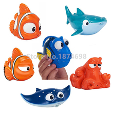 New Finding Dory Baby Bath Toy Set of 6 Dory Nemo Marlin Mr. Ray Destiny Bath Squirters Figure Cute Kids Toys Children Gifts