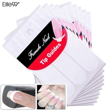Elite99 10 Packs Manicure Nail Art DIY French Manicure Guides Sticker For Women Brand Women Makeup Tools For Nail Art(China)