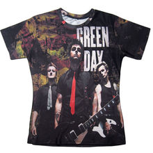 Harajuku 3D Printed T-Shirts Fashion Men Green Day Punk Rock Group Graphic Tees Hip Hop Short Sleeve Tops Homme Unisex Camisetas(Hong Kong)