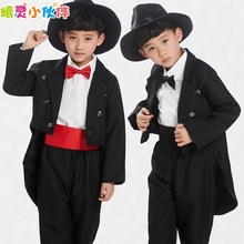 2016 Limited Rushed Spiderman Boy Tuxedo Suit Kids Costume Suits Piano Magician Host 6pcs/set Coat Pants Tie Shirt Hat Waitband
