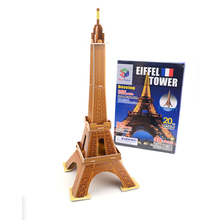 Eiffel Tower Magic Puzzles For Adults Magic 3d Puzzle Model Educational Toys Jigsaw Puzzle For Children(China)