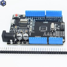 One set TENSTAR ROBOT New 2016 - UNO R3 ATmega328P/CH340G MicroUSB. Compatible for Arduino UNO Rev 3.0 (hei)