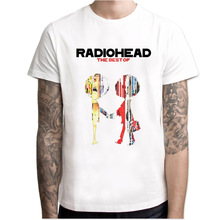 radiohead t-shirt men band music rock n roll Men'S T Shirt 2017 Summer Fashion O-Neck Short Sleeved Male tops tees