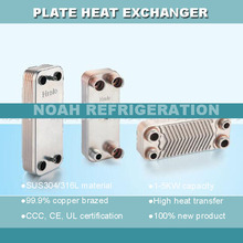 10 plates Brazed Plate Heat Exchanger SUS304 Stainless Steel 3Mpa Rated Pressure(China)