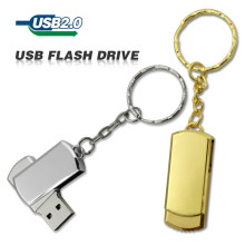 Usb Flash Drive Gold Silver 4GB 8GB 32GB Pendrive Metal Small Mini U Disk pen drive rectangle USB 2.0 Usb Flash Memory Stick