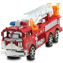 Child fire truck toy car model ladder truck fire truck denggao car acoustooptical warrior car 30CM(China)