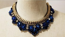Jewelry collar popular bohemian fashion vintage metal pendent necklace crystal jewellery jewerly women necklace big necklace(China)