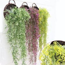 High Quality 1Pc Vivid Artificial Fake Flower Vine Hanging Garland Plant Home Garden Decoration New Wedding Decor