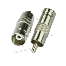 RF coaxial coax adapter BNC to RCA TV connector BNC female to RCA TV male Plug fast ship