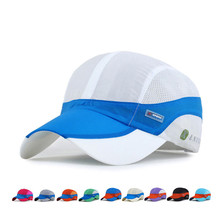 Summer style Quick Dry Baseball Caps Men Women Mesh An-ti UV snapback Breathable Camping Adjustable Fitted Hats