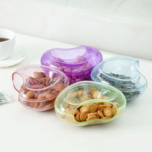Detachable Dried Fruit Storage Tray Double Layer Snacks Storage Box Container PC Destop Candy Fruit Storage Pallet Home Office