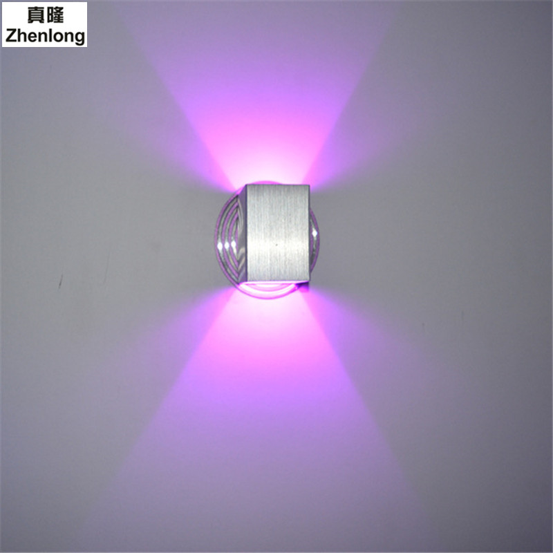LED Aluminum Wall Lamp Bedroom Living Room Background Lights Creative Projection Light Effect Wall Luminaires Hotel Room Lights<br>