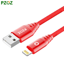 PZOZ Lighting Cable Fast Charger Adapter Original Mobile Phone 8 Pin USB Cable For iphone 7 6S Plus 5S iPad Air 2 iPod Touch