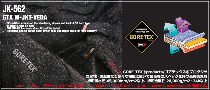 KOMINE JK-562 GTX winter jacket VEDA