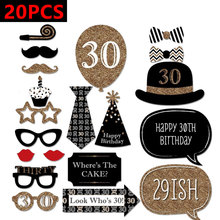 Buy 30th 40th 50th Happy Birthday Party Decorations Photo Booth Props 30 40 50 Years Man Woman Thirty Birthday Decoration for $1.49 in AliExpress store