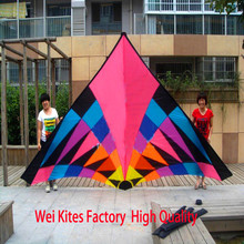 Free shipping high quality new design large 6sq colorful delta kites hot so exciting with handle line ripstop nylon parafoil(China)