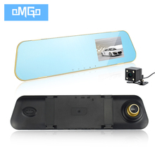 dual lens car dvr rearview mirror camera dash cam portable camcorders full hd1080p auto dvrs recorder video registrator