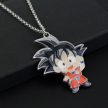 Anime Dragon Ball Z Son Goku Figure Charm Necklace Super Saiyan Metal Pendant Necklace Collectible Cool Novelty Jewelry(China)