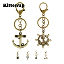 Kittenup Fashion Anchor Camera Scorpion Bicycle Alarm Clock Key Chains Alloy Keychain Causual Jewelry(China)