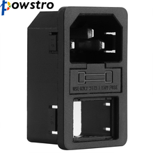 Powstro Red Light IEC 320 C14 Inlet Rocker Switch Power Socket Connector Plug 10A 250V B2C(China)