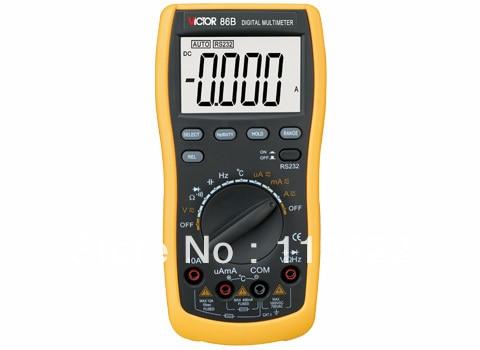 Digital Multimeter/Victor/VC86B 3/4 Auto Range Temperature Test Streamline Design &amp; Large LCD Display<br>