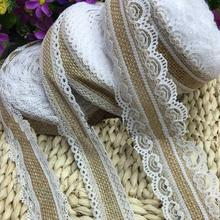 Jute linen roll Lace ribbon Christmas Wedding Party Decoration Factory Direct DIY handmade rope both sides