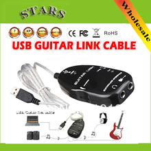 Wholesale Guitar Accessories USB Guitar Link Cable PC To Guitar USB Interface Audio Link Cable,Wholesale Free Shipping