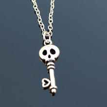 N2061 Skull Necklaces & Pendants Men Women Key Necklace Bijoux Steampunk Fashion Jewelry Collares Colar Promotion 2017