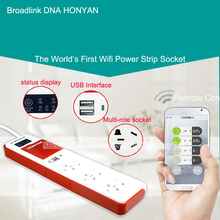 BroadLink HONYAR WiFi Power Strip Socket with USB Port Extension Socket Remote Control by IOS Android Smart Home AC100~240V 10A
