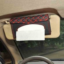OTOKIT Car Tissue Box Sun Visor PU Leather Auto Tissue Bag Contains Paper Towels For Car Interior Accessories Stowing Tidying