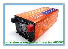 Free shipping DC24V to AC220V CE RoHs power inverter 4000W pure sine wave power inverters, solar power inverter, car inverter