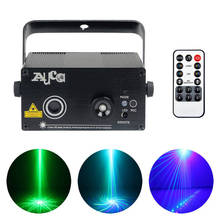 AUCD 9 Patterns Mini Green Blue Laser Projector Lights 3W Blue LED Mixing Effect DJ Home Party Wedding Show Stage Lighting Z09GB(China)
