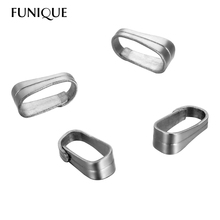 FUNIQUE 50PCs Stainless Steel Pinch Push Clasps Jewelry Findings 6x2.5mm DIY Jewelry Findings Silver Tone(China)