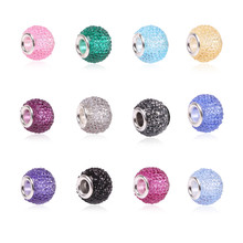 dodocharms Original Retail Fashion 14 Color Glass Beads Charms Fit Pandora Charms Bracelets Necklaces For DIY Women Jewerly(China)