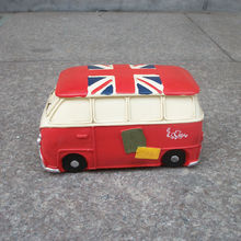 Britain Style Creative Bus Pattern Saving Box Personalized Resin Money Box Decorative Art Work 2 Colors(China)