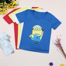 TANGUOANT New 2017 Fashion & hottest children summer clothes unisex t shirt much color kids cartoon pattern boys girls t-shirts