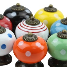 A96 Retro Vintage Round Ceramics Drawer Knob Handle Cabinet Cupboard Door Pull Decor #XY#