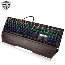 TEAMWOLF Tsing Lung Mechanical Keyboard 104 MX Backlight Big Hand holding Metal Panels gaming keyboard For Laptop PC office(China)