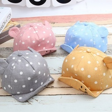 New Sweet Baby Girl Boys Cap Summer Infant Sun Hat With Ear Sunscreen Baby Girl Hat Spring Baby Accessories(China)