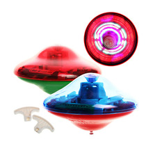 Tabletop game Fingertip gyroscope Laser Color Flash LED Light Music Gyro Peg-Top Spinner Spinning Toy SS(China)