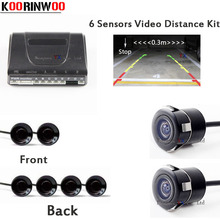 Car Reversing radar 6 parking Sensors kit Video Distance Front cmaera + Rear view camera Parktronic System detector sensor - Bonjour-YX Store store