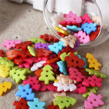 300Pcs 17*13mm 2 Holes Tree Mixed Resin Buttons Decorative Sewing Buttons Scrapbooking Crafts Sewing Accessories for Children(China)