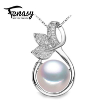 FENASY flower pearl necklaces & pendants pink Pearl Jewelry christmas gift bohemian necklace women Natural necklace,with box